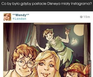 Gdyby postacie Disneya miały Instagrama