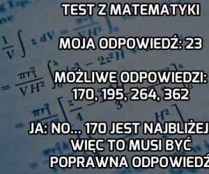 Jak rozwiązuję test z matematyki