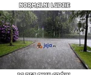 Okulary w deszczowy dzień