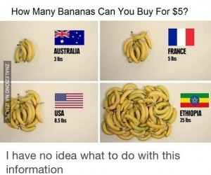 Ile bananów mogę  kupić za 5$?