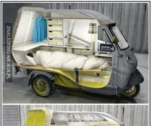 Mały samochód kempingowy
