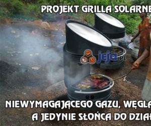 Projekt grilla solarnego