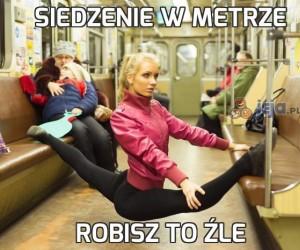 Siedzenie w metrze