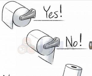 Jak wieszać papier toaletowy