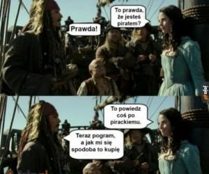 Prawdziwy pirat!