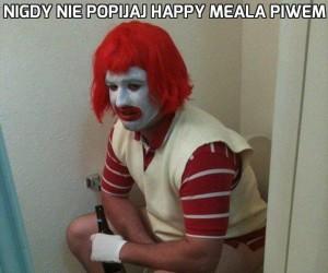 Nigdy nie popijaj Happy Meala piwem
