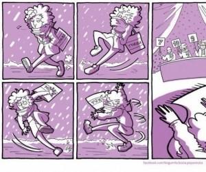 Kiedy próbujesz nie wywalić się na lodzie