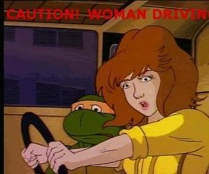 Uwaga, kobieta za kółkiem!