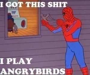 Spiderman i Angry birds