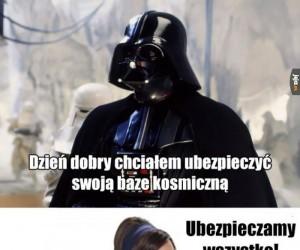Vader ubezpiecza Gwiazdę Śmierci