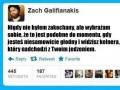 """Zach Galifianakis: """"Nigdy nie byłem zakochany..."""""""