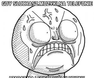 Gdy słuchasz muzyki na telefonie