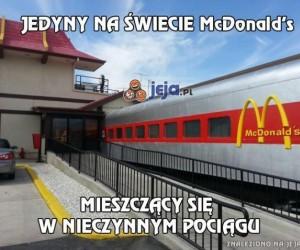 McDonald's w pociągu