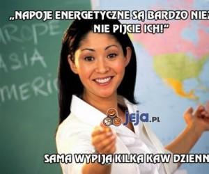 Napoje energetyczne są bardzo niezdrowe!