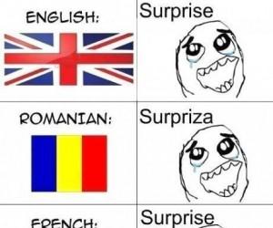 Niespodzianka w różnych językach