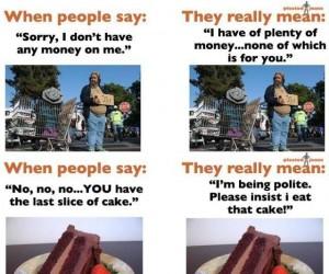 Co ludzie mówią, a co myślą