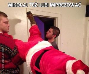 Mikołaj też lubi imprezować