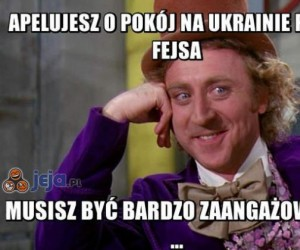 Apelujesz o pokój na Ukrainie przez Fejsa...