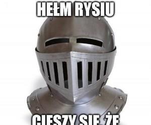 Hełmy też mają swoje humorki
