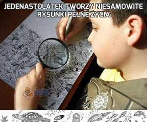 Jedenastolatek tworzy niesamowite rysunki pełne życia