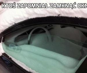 Ktoś zapomniał zamknąć okna