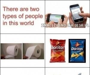 Są dwa przeciwstawne typy ludzi