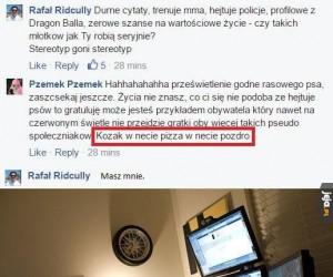 Kozak w necie, pizza w świecie