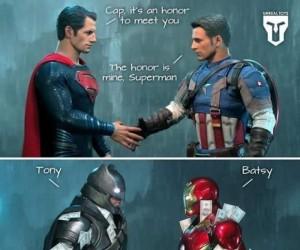 Powitania superbohaterów