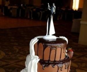 Dwustronny tort ślubny