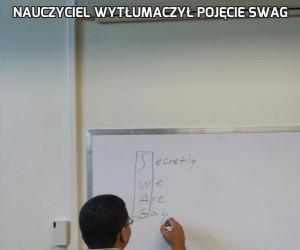 Nauczyciel wytłumaczył pojęcie SWAG