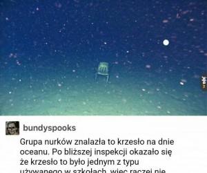 Krzesło znalezione w oceanie