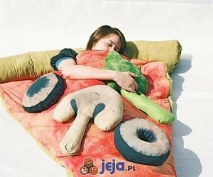 Śpiwór dla amatorów pizzy