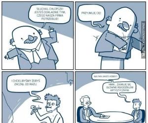 Nieśmiałe wyobrażenia bezrobotnego