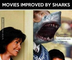 Filmy są lepsze, gdy doda się rekiny