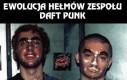Ewolucja hełmów zespołu Daft Punk