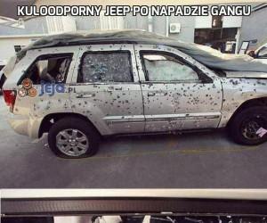 Kuloodporny Jeep po napadzie gangu