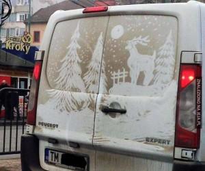 Świąteczne czyszczenie autka