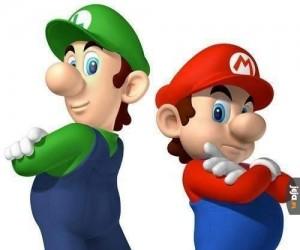 Mario i Luigi bez wąsów