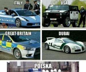 Radiowozy w różnych krajach