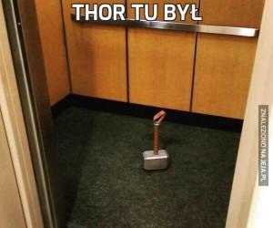 Thor tu był