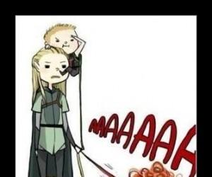 Loki i Legolas jako opiekunki