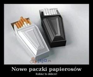 Nowe paczki papierosów