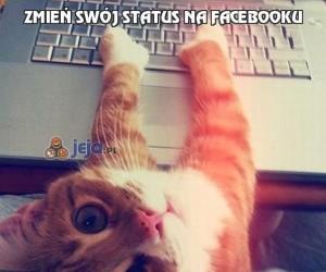 Zmień swój status na Facebooku