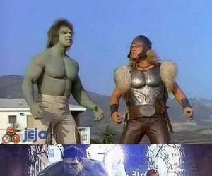 Hulk i Thor kiedyś i teraz