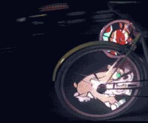 Rowerowe koła z animacją