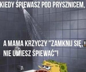 Kiedy śpiewasz pod prysznicem