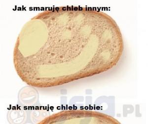 Smarowanie chleba