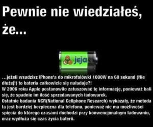IPhone w mikrofalówce?