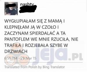 Dzięki tłumaczu Bing!