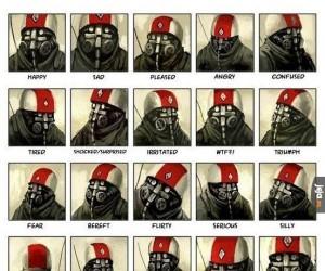 Jak rysować uczucia postaci w masce gazowej